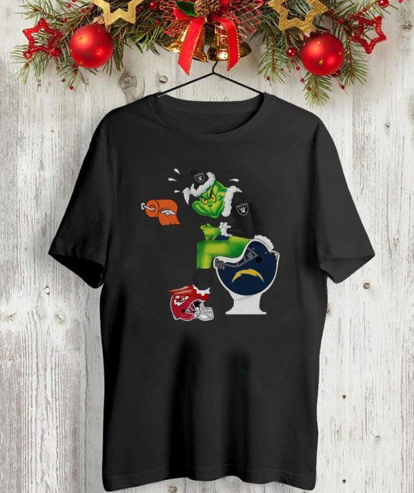 The Grinch toilet Oakland Raiders shirt