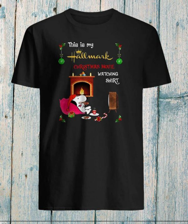This is my hallmark christmas watching movie shirt snoopy christmas shirt