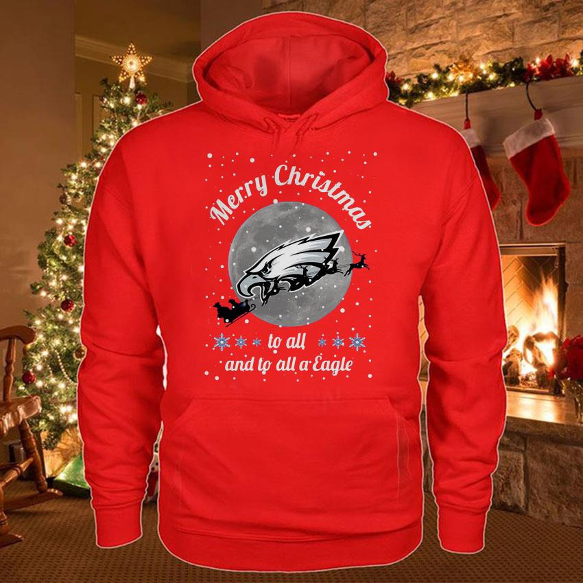 Philadelphia Eagles Merry Christmas to all and to all a Eagle t-shirt