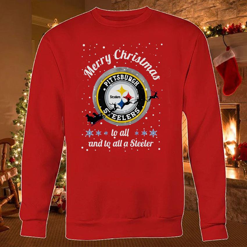 Pittsburgh Steelers Merry Christmas to all and to all a Steeler shirt