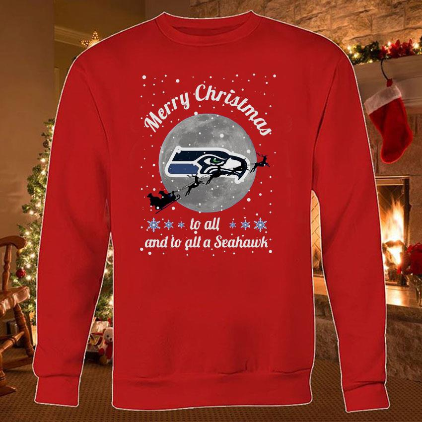 Seattle Seahawks Merry Christmas to all and to all a Seahawk shirt