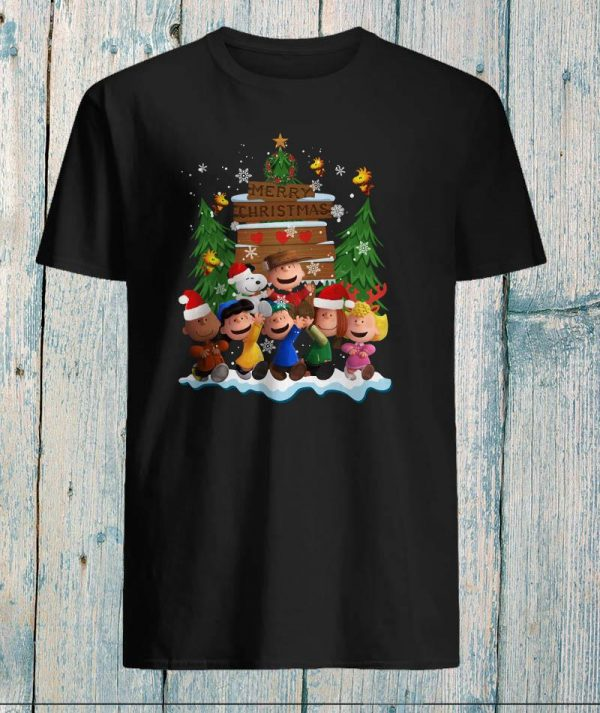 Snoopy and Charlie Brown merry Christmas shirt