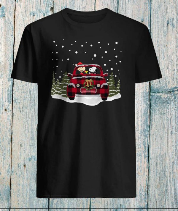 Snoopy and Charlie Brown Volkswagen Christmas shirt