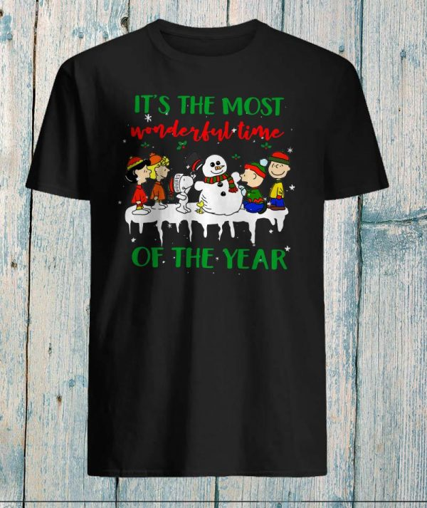 Snoopy and friends it's the most wonderful time of year shirt