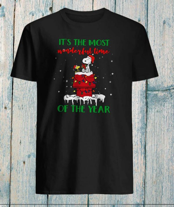 Snoopy Woodstock it's the most wonderful time of year shirt