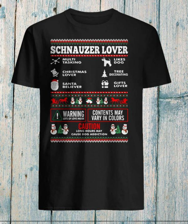 Schnauzer Lover Multitasking Christmas shirt