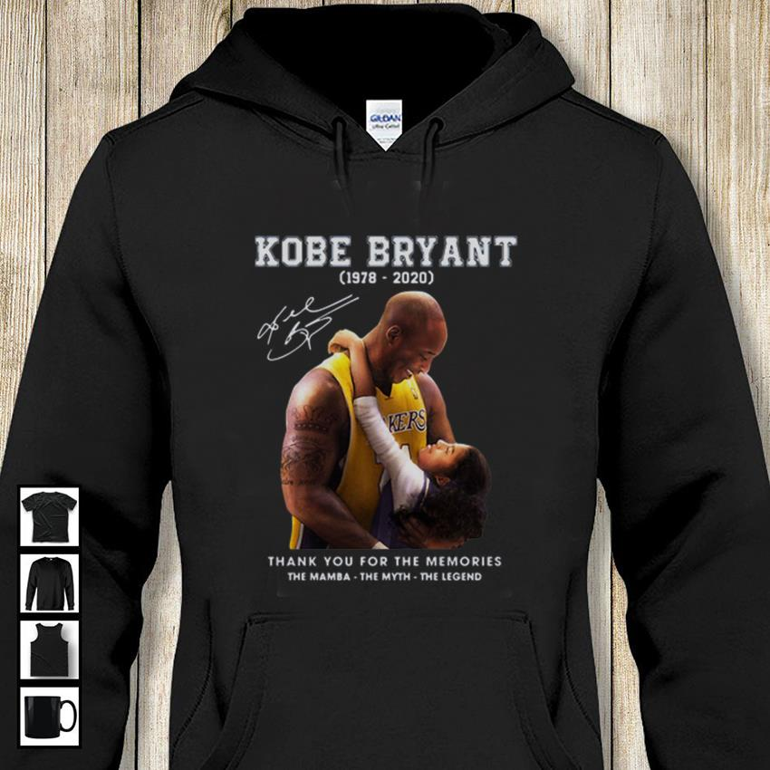 Kobe Bryant and Gigi thank you for the memories hoodie-shirt