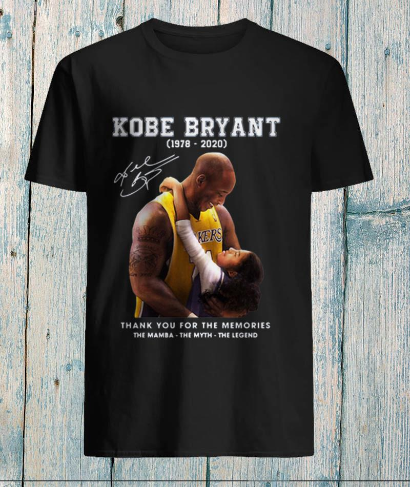Kobe Bryant and Gigi thank you for the memories unisex-shirt