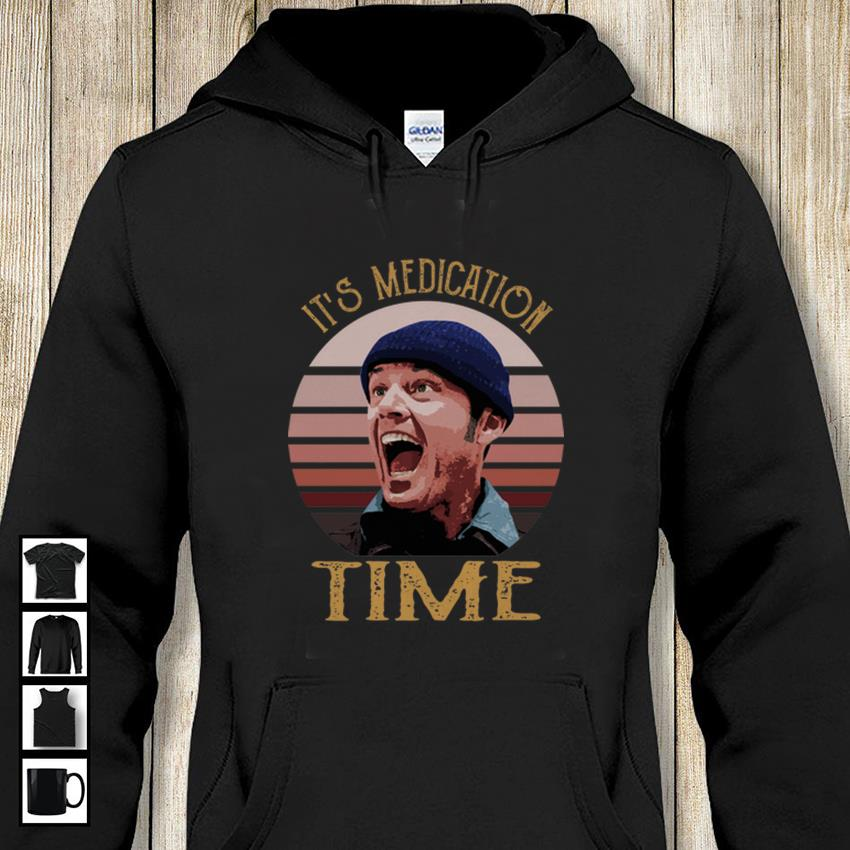 Retro Randle McMurphy its medication time hoodie-shirt