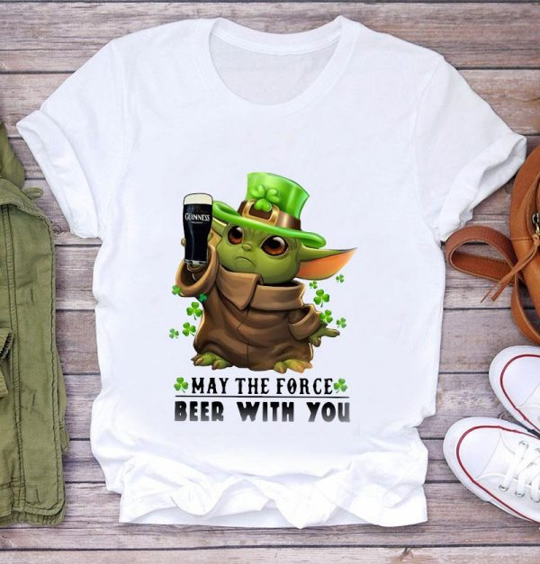 Baby Yoda Guinness beer may the force be with you Irish t-s t-shirt