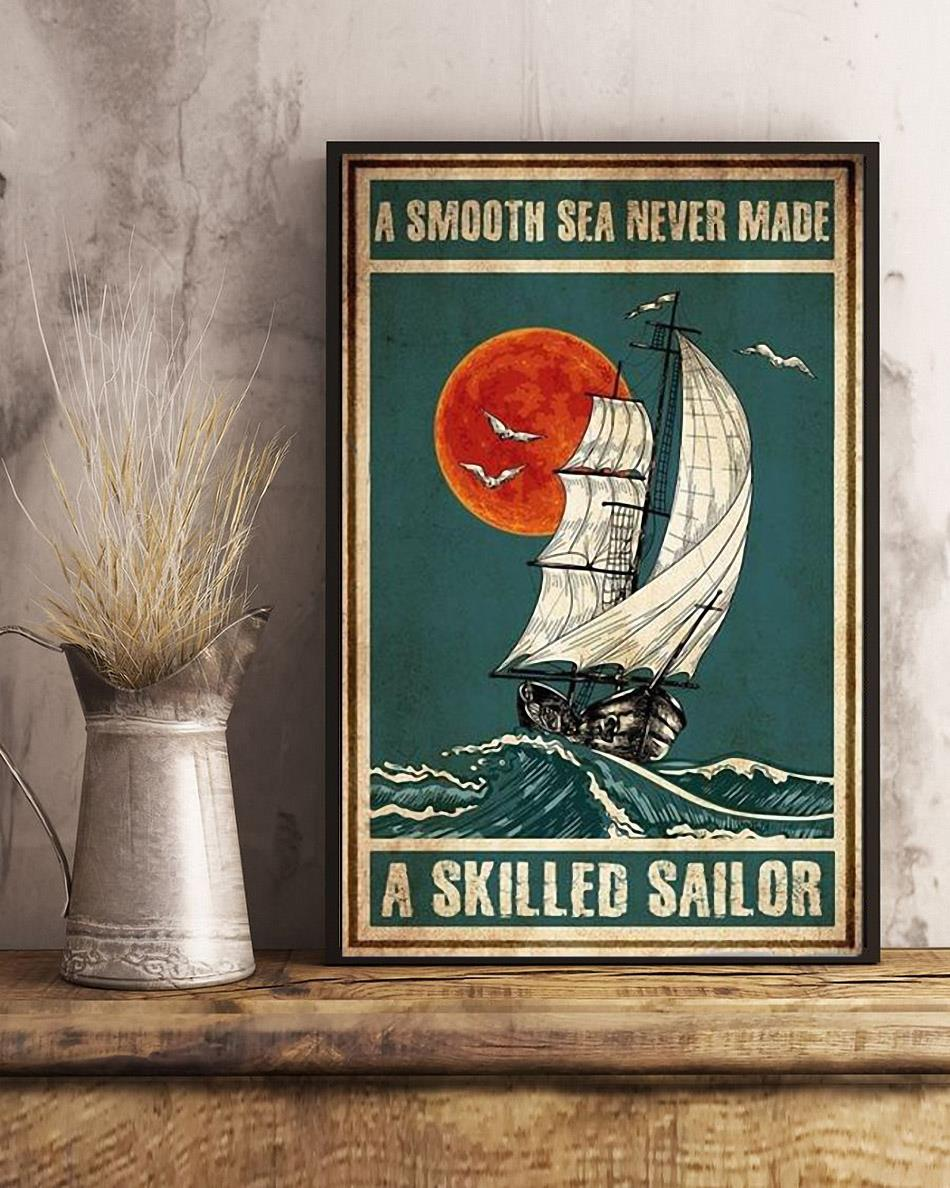A smooth sea never made a skilled sailor vintage poster canvas art