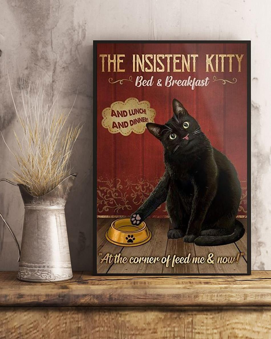 Black cat the insistent kitty bed & breakfast poster art