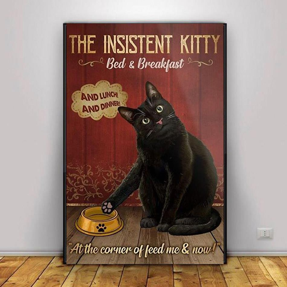 Black cat the insistent kitty bed & breakfast poster decor 1