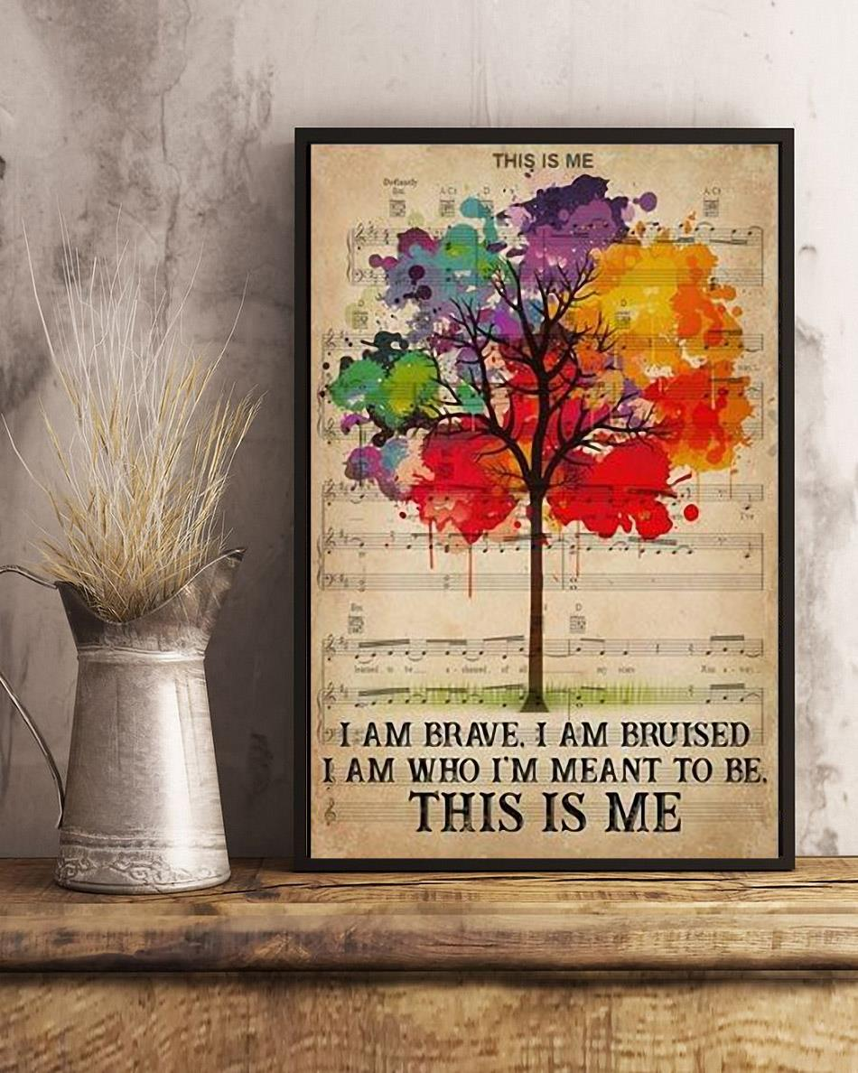 I am who Im meant to be this is me LGBT Pride poster art