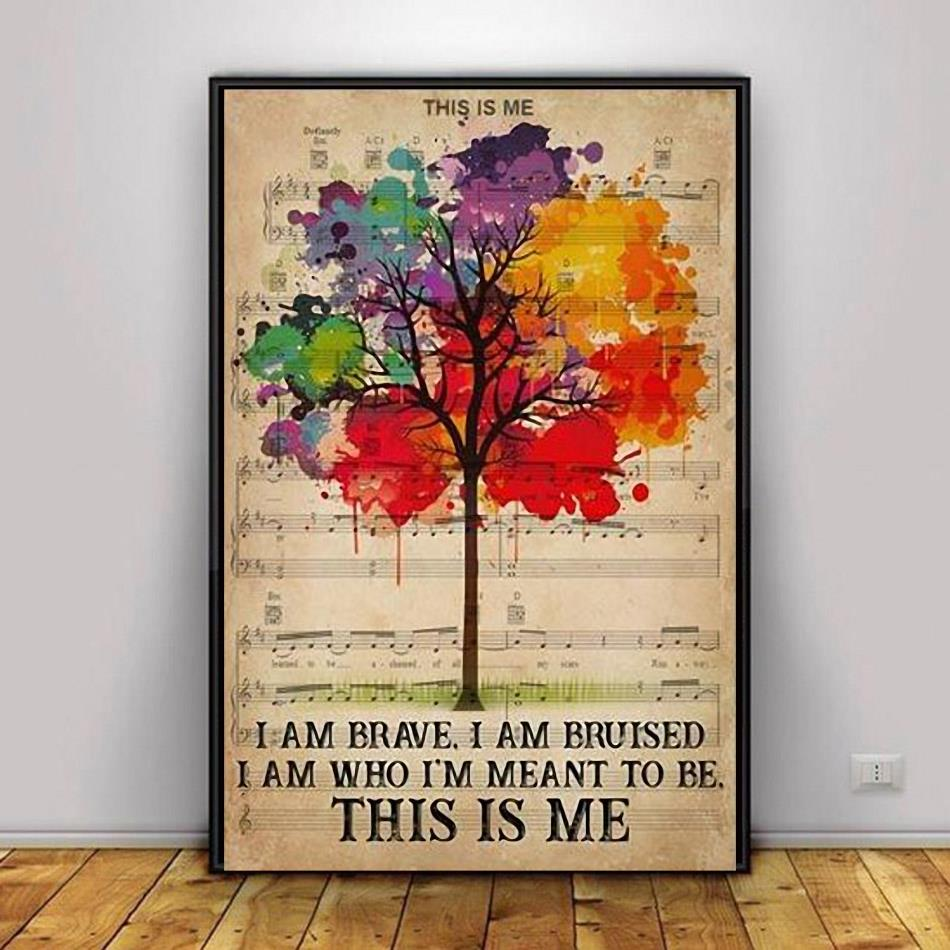 I am who Im meant to be this is me LGBT Pride poster decor 1