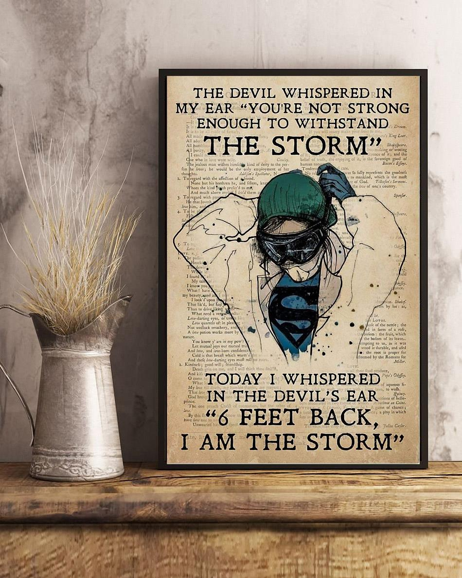 Nurse I whispered 6 feet back I am the storm poster art