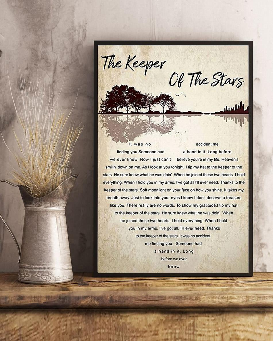 Tracy Byrd the keeper of the stars heart lyrics poster canvas art