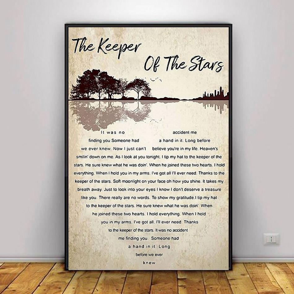 Tracy Byrd the keeper of the stars heart lyrics poster canvas decor 1