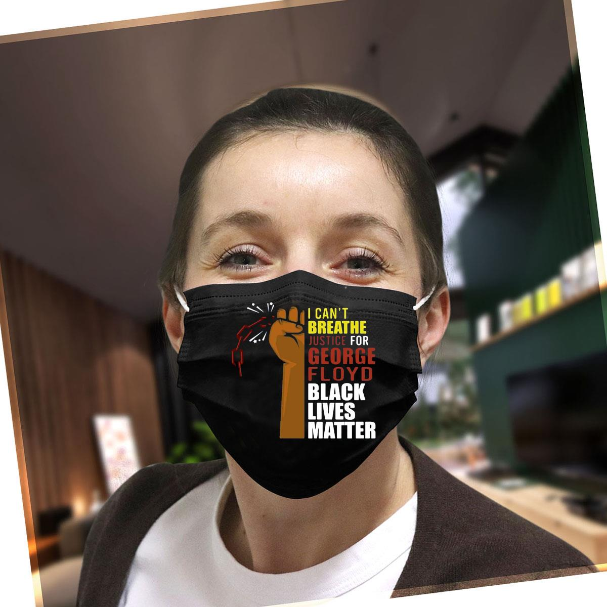 I cant breathe justice for George Floyd Black Lives Matter neck gaiter face mask
