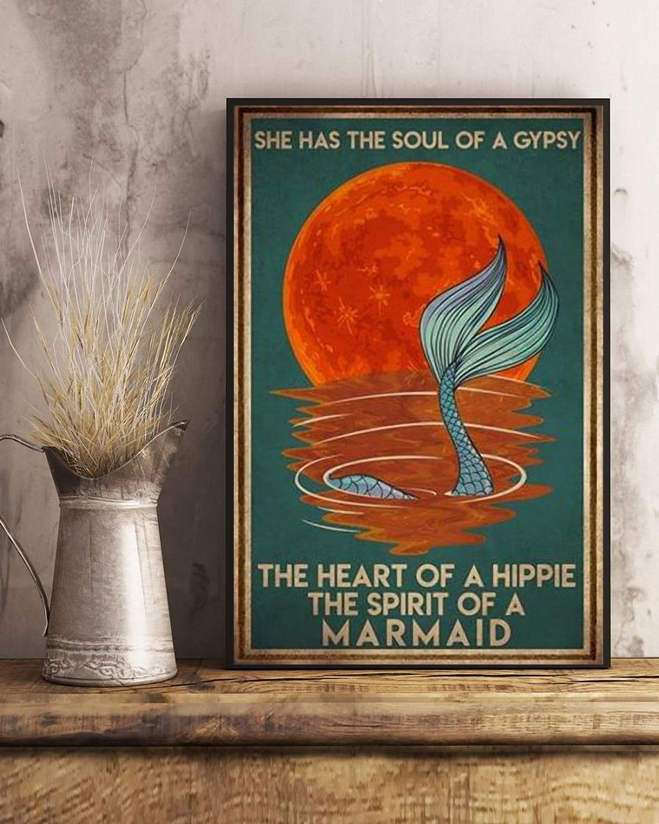 Mermaid she has the soul of a gypsy vintage poster art