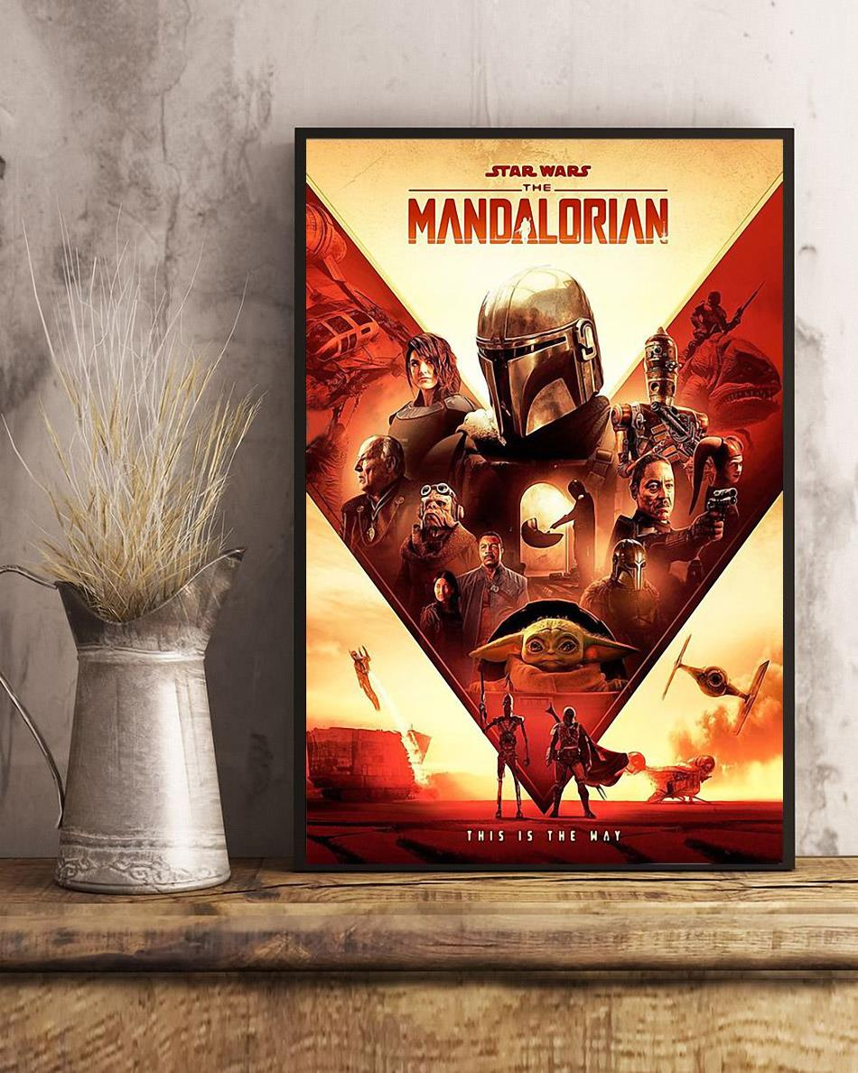 Star Wars The Mandalorian this is the way poster canvas art