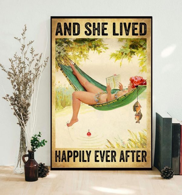 Fishing girl and she lived happily ever after poster