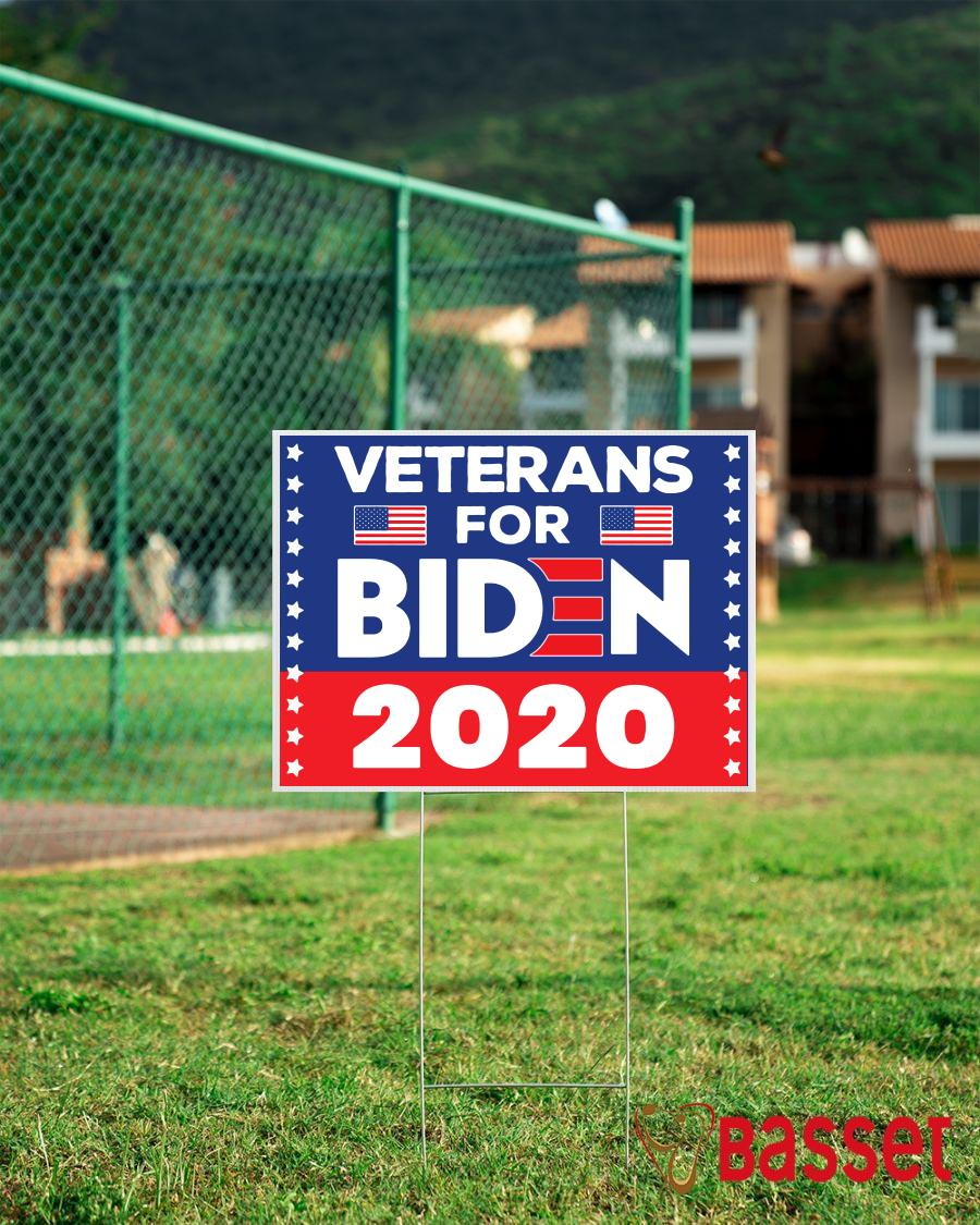 2020 Veterans For Biden yard sign campaign