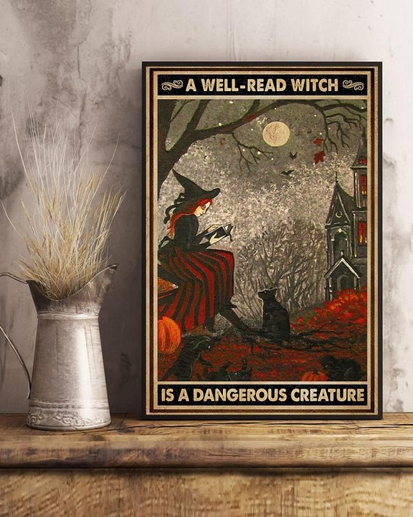 A well read witch is dangerous creature poster art