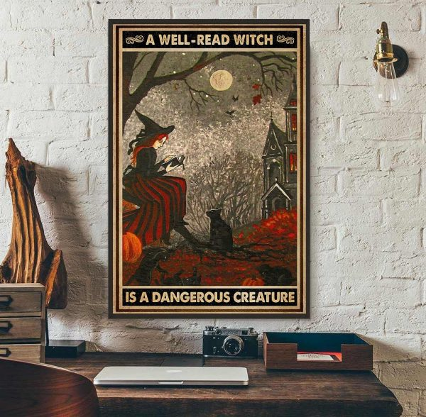 A well read witch is dangerous creature poster
