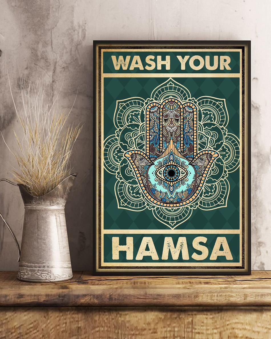 Yoga meditation namaste wash your hamsa poster art