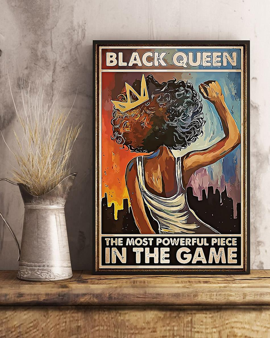 African American black queen the most powerful piece in the game poster art