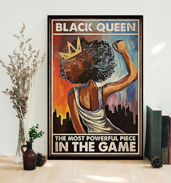 African American black queen the most powerful piece in the game poster