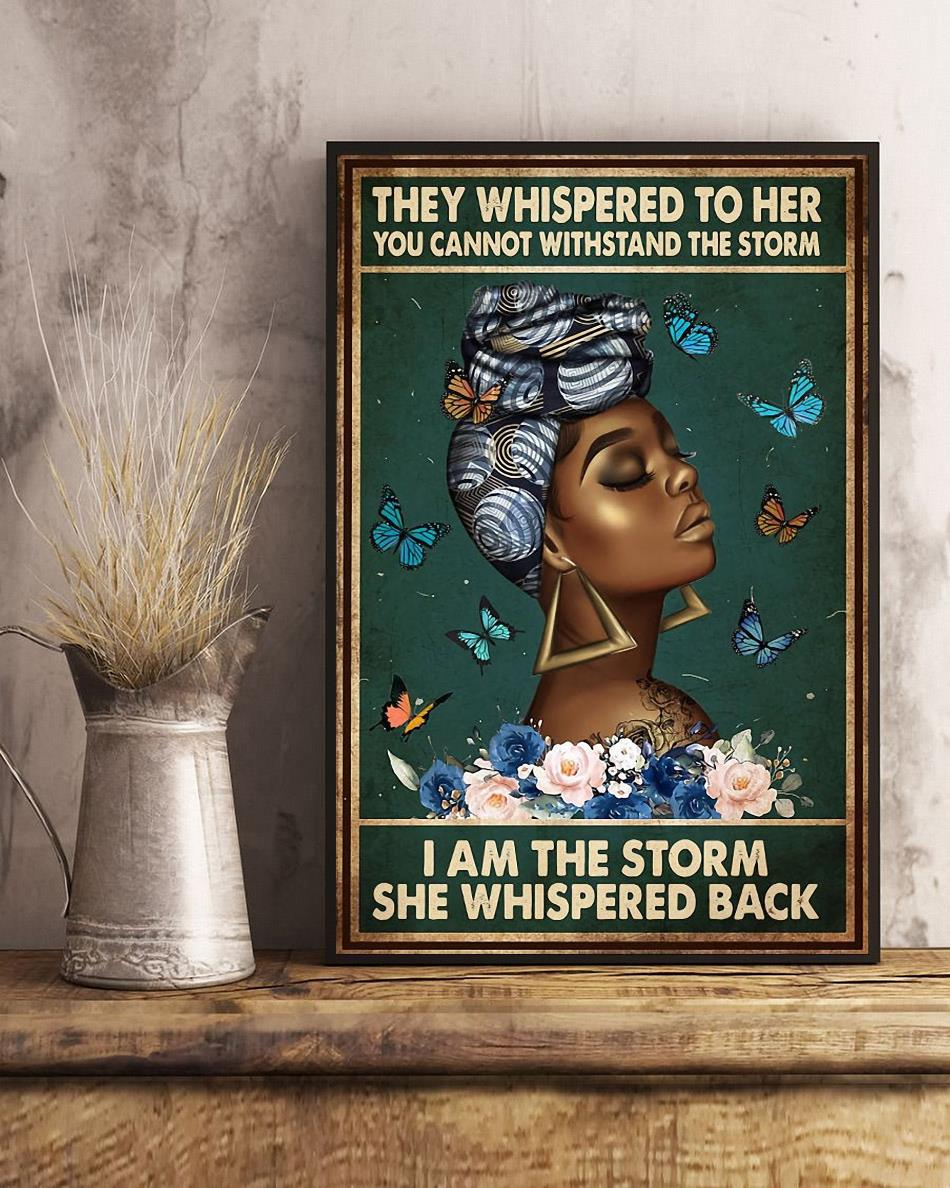 Afro Queen they whispered to her poster art