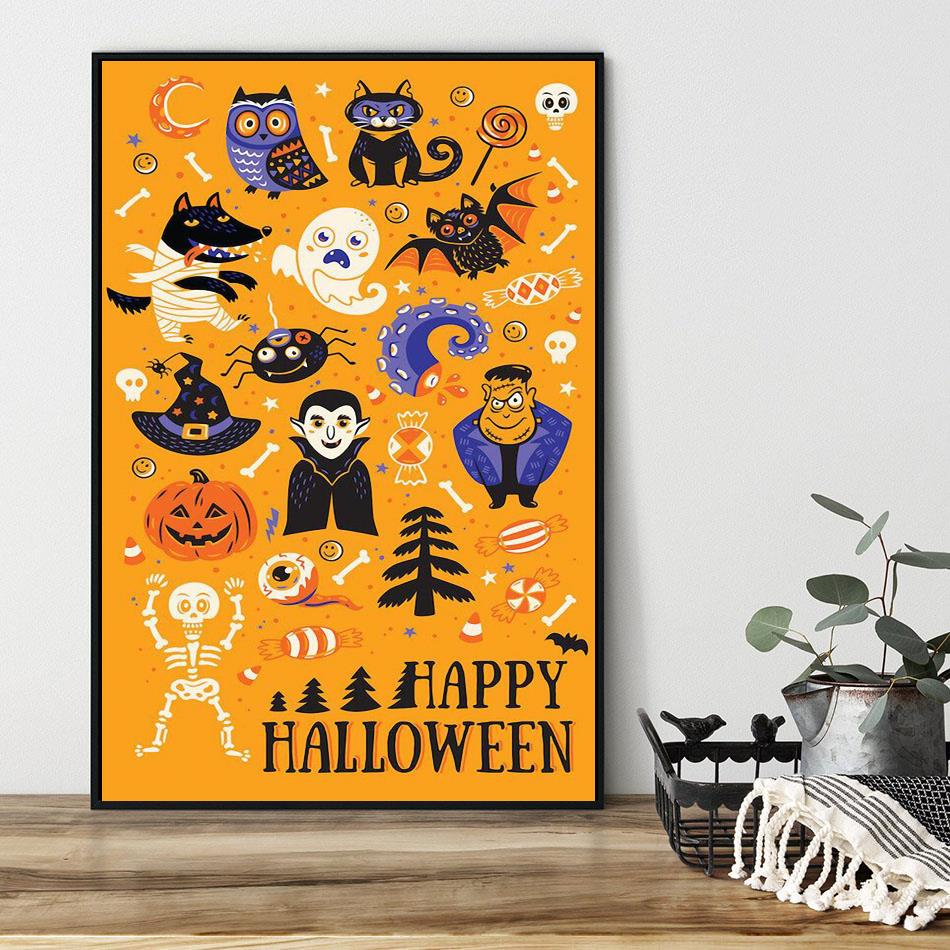 Best Of Halloween All Things Spooky poster black