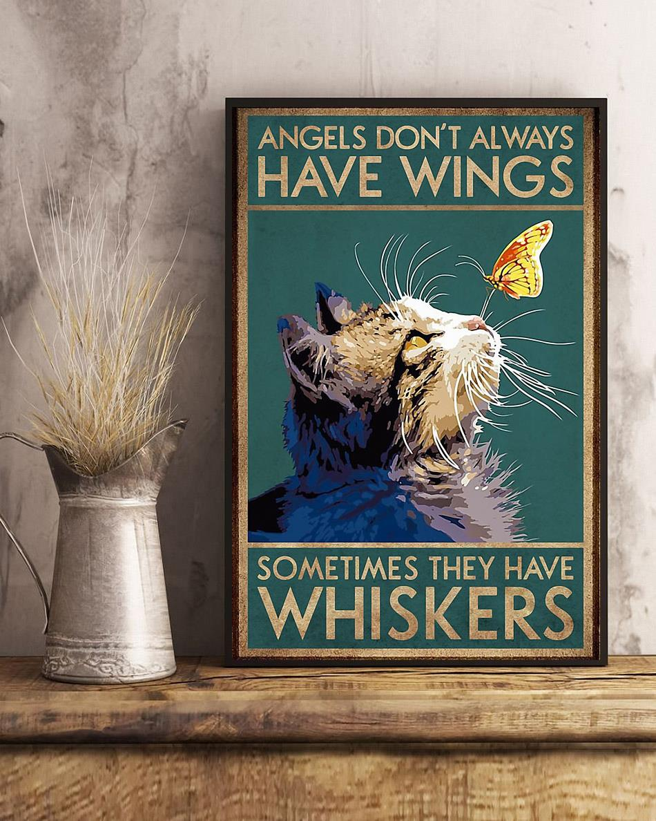 Cat angels don't always have wings vertical poster art