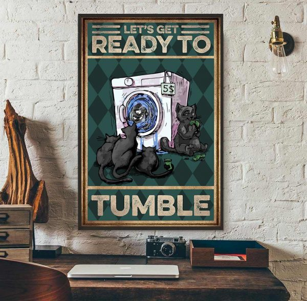 Cat let's get ready to rumble poster wall art