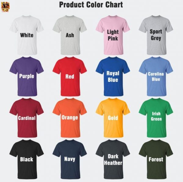 Halloween is my Christmas Horror Characters t-s Camaelshirt Color chart