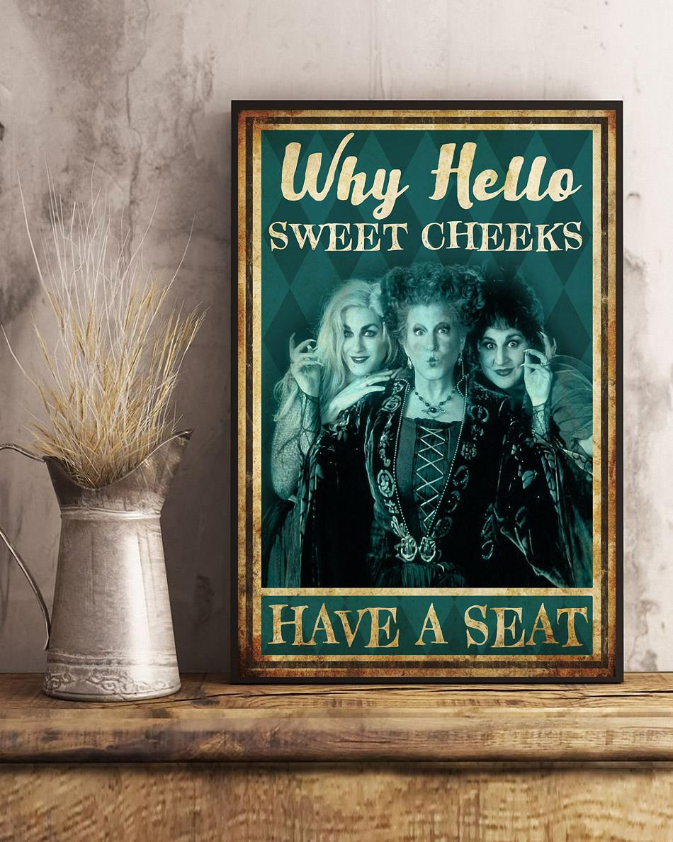 Hocus Pocus why hello sweet cheeks have a seat poster art