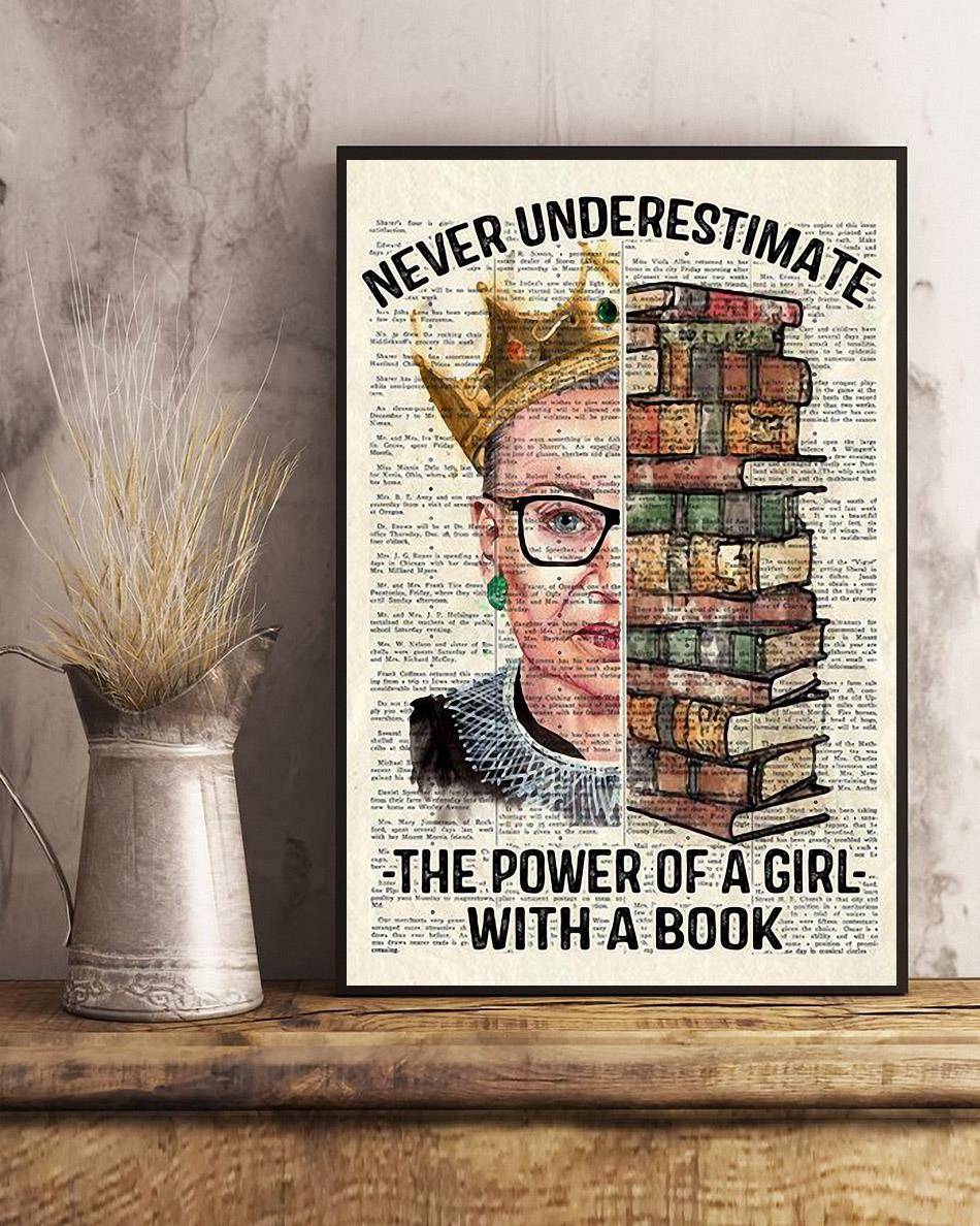 RBG Queen never underestimate the power of a girl with a book posterposter art