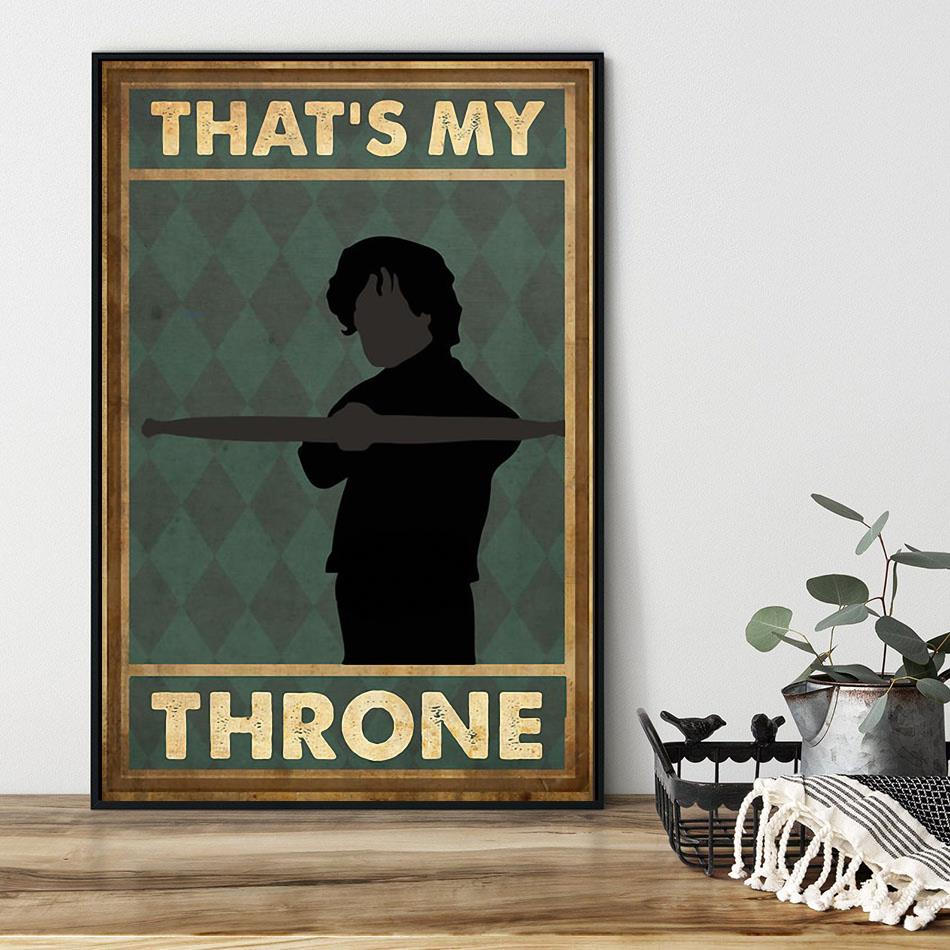 That's my throne vertical poster black