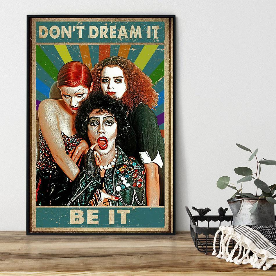 The Rocky Horror picture show don't dream it be it canvas black