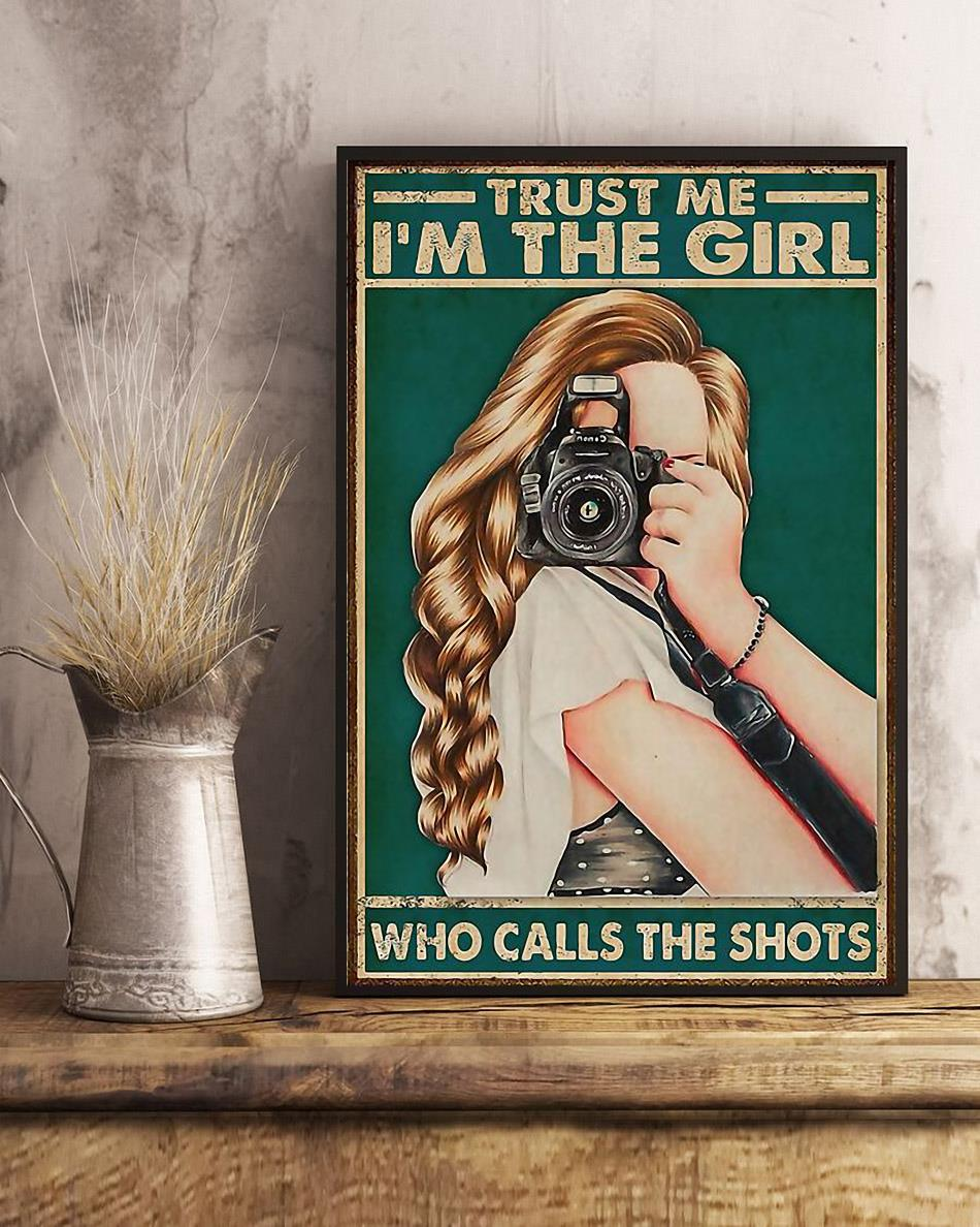 Trust me I'm the girl who calls the shots poster art