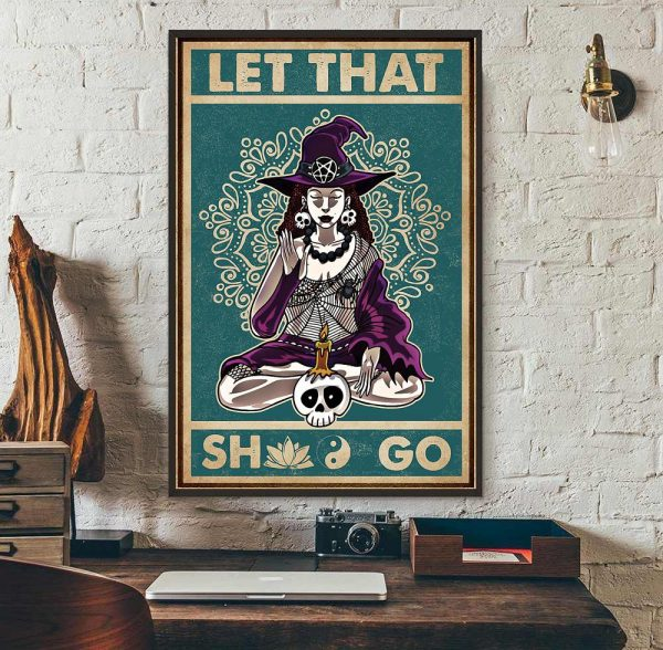 Witch Yoga let that shit go canvas wall art