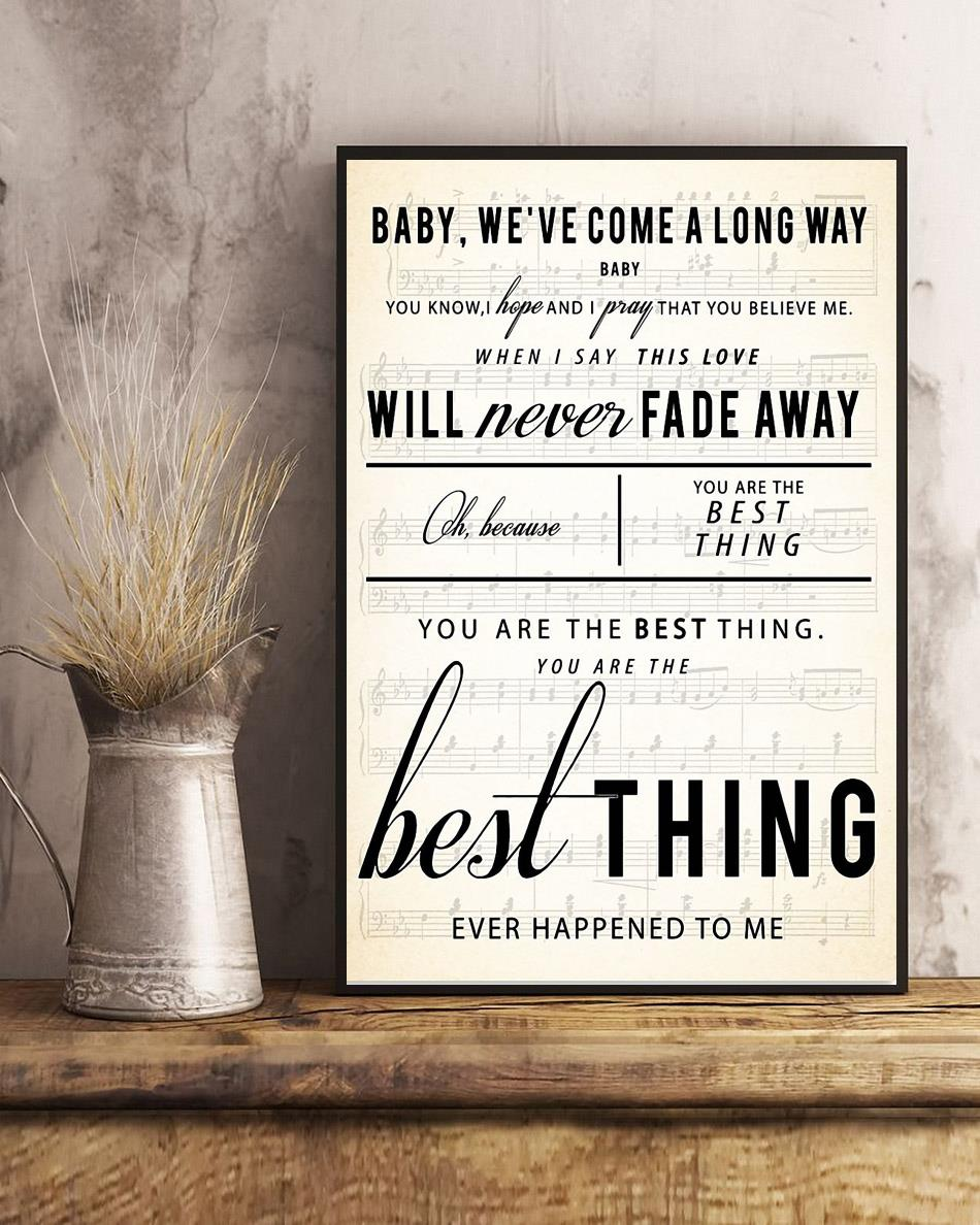 You are the best thing poster canvas art