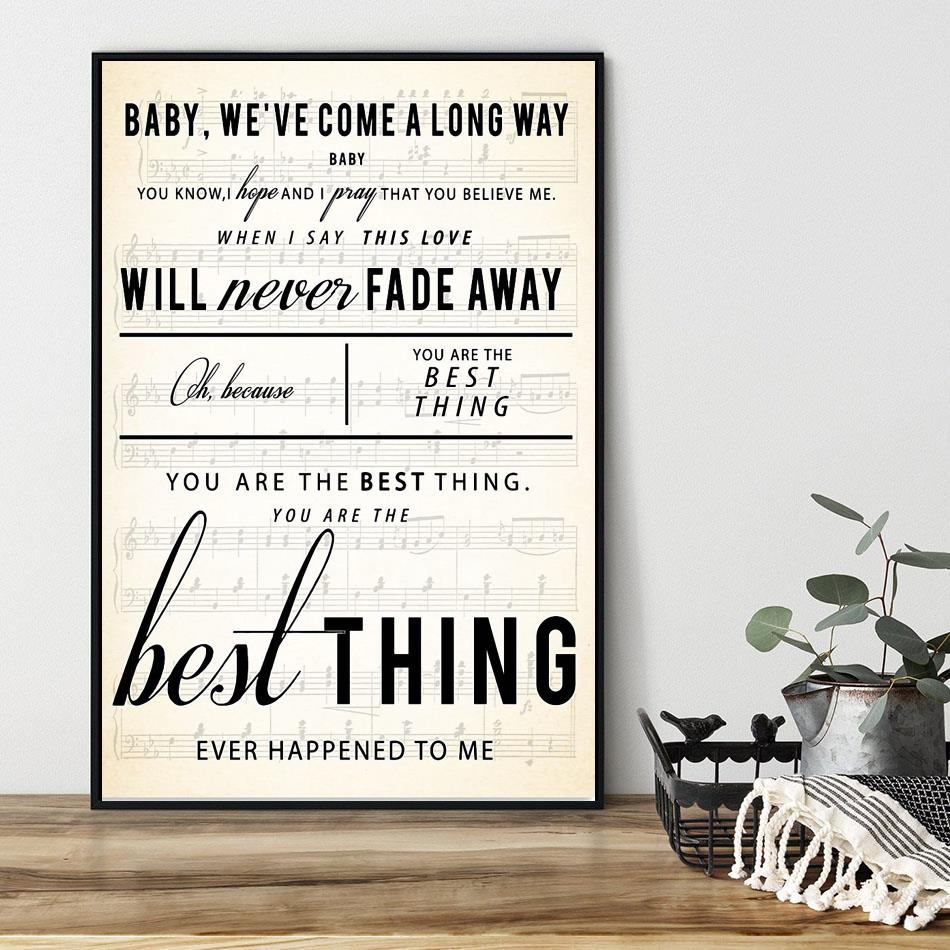 You are the best thing poster canvas black