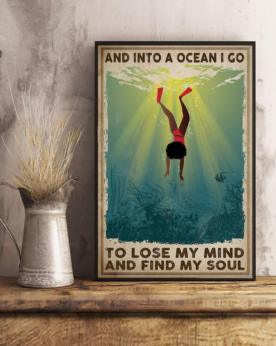 African American into the ocean i go to lose my mind and find my soul poster art