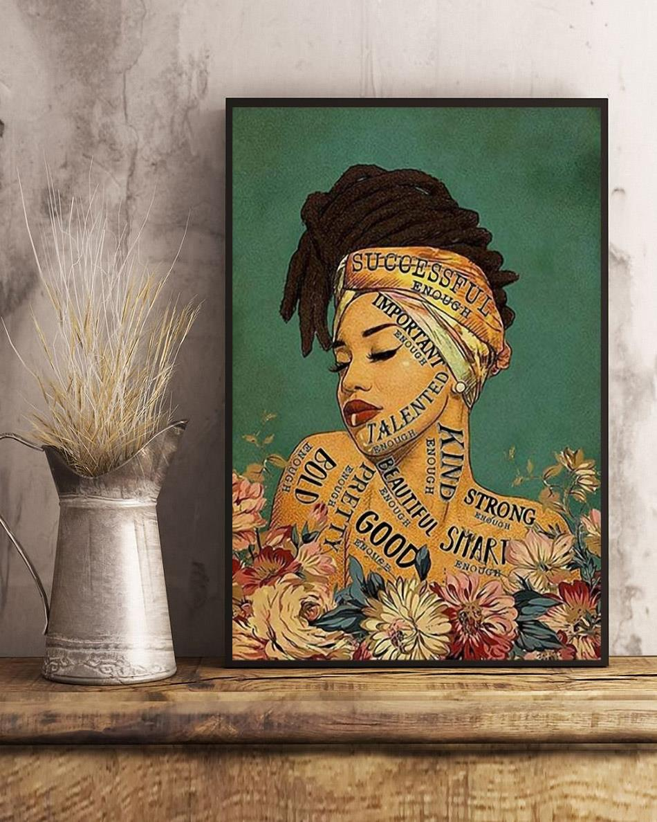 African girl lose your mind find your soul canvas art