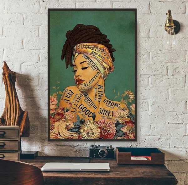 African girl lose your mind find your soul canvas wall art