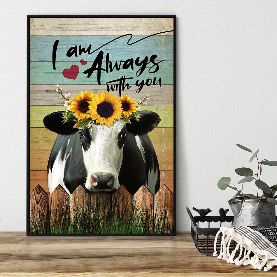Cow I am always with you poster black