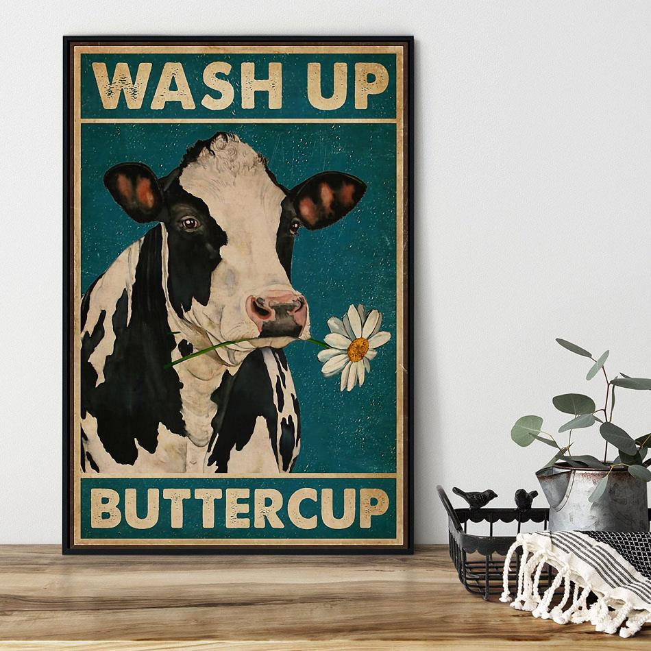 Dairy cattle wash up buttercup canvas black